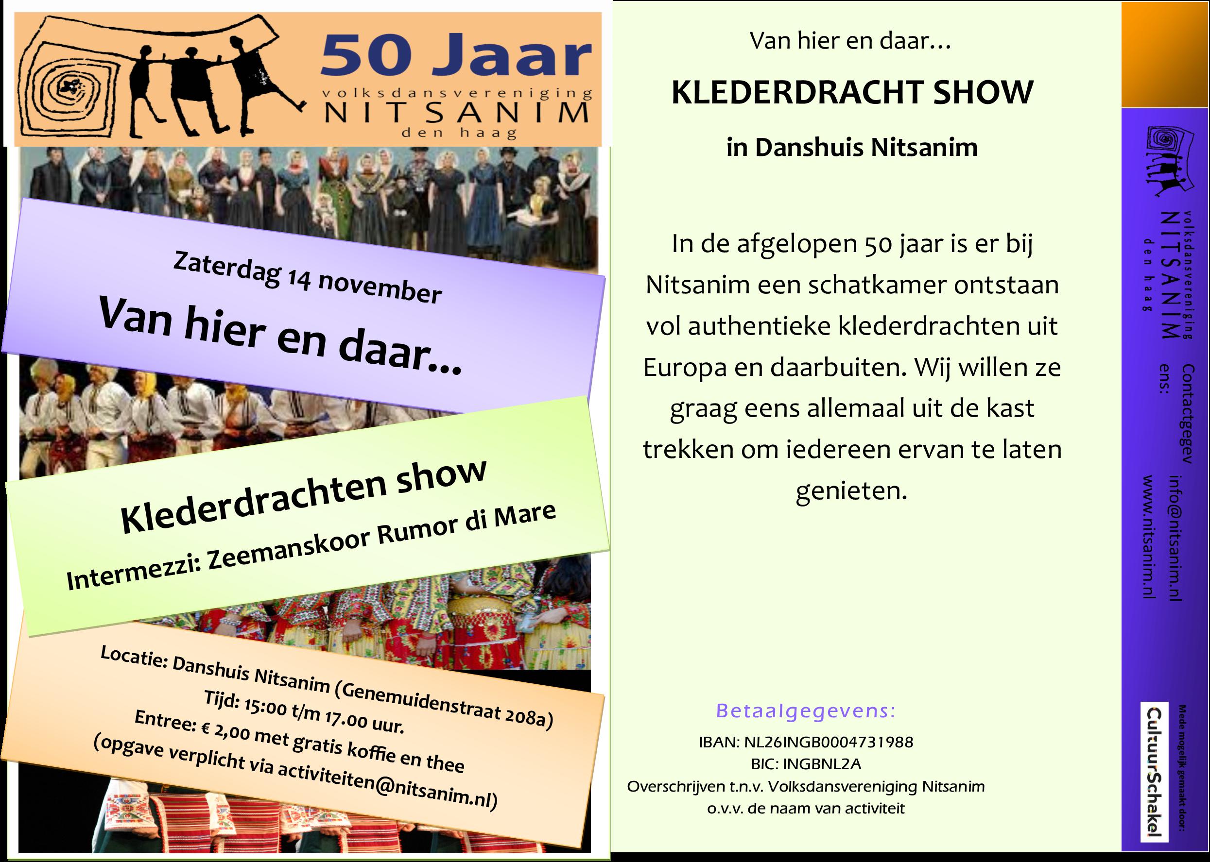 2015-10-14 Jubileum Klederdrachtshow flyerv2